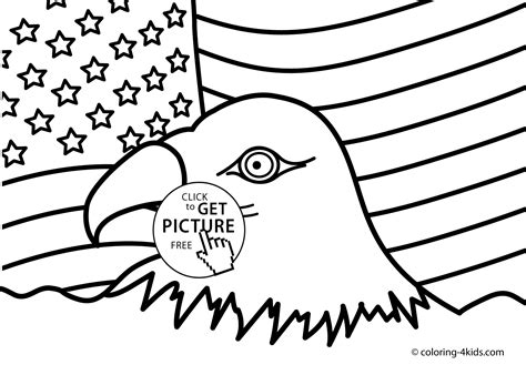 usa independence day coloring pages for kids july 4