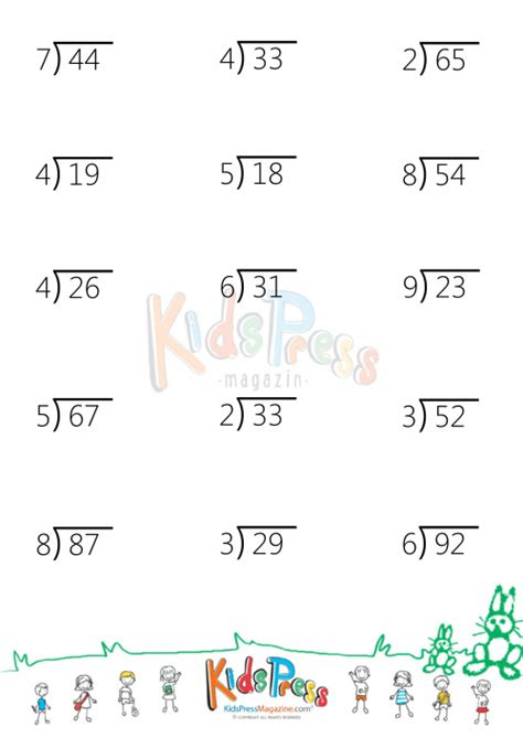 free printable division worksheets with 2 digit divisors division 187 2 digit by 1 digit division free math