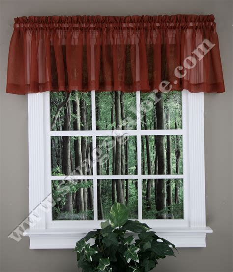 sheer swag curtains valances sheer valance sage stylemaster kitchen valances