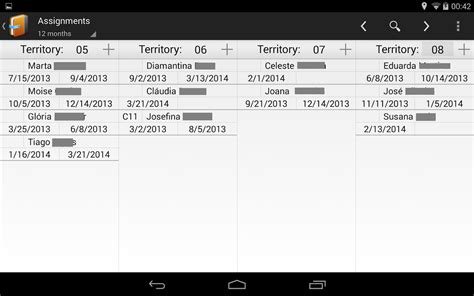 Congregation Publisher Record Card Template by Congregation Territories Android Apps On Play