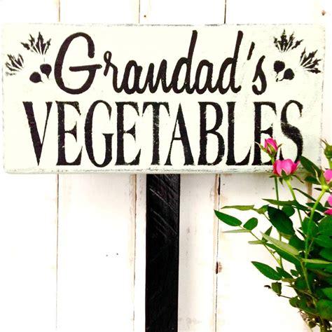 vegetable garden signs personalised vegetable garden sign by potting shed designs