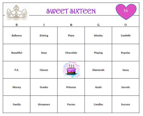 printable games for sweet 16 party sweet 16 birthday party bingo game 60 cards fun and easy