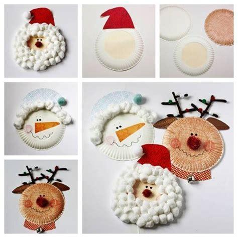 adornos con platos desechables para decorar en navidad