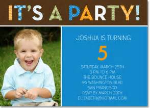 pattern party blue personalized birthday invitation by