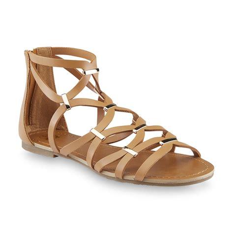 kmart womens sandals route 66 s alva brown embellished gladiator sandal