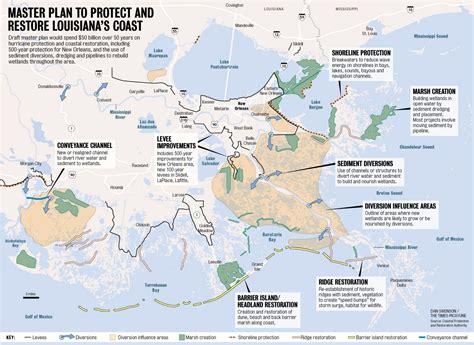 louisiana coast map the new master plan to save louisiana s dissolving coast