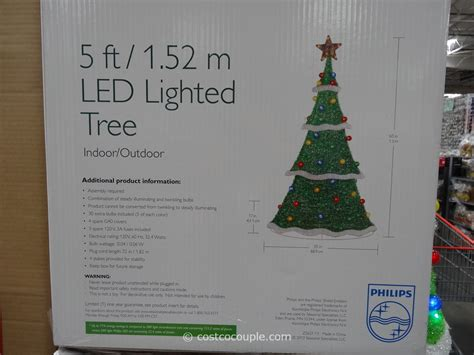 philips led lighted tinsel tree costco 3 philips led