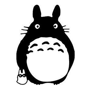 amazon.com: totoro black ghibli laputa jdm anime sticker