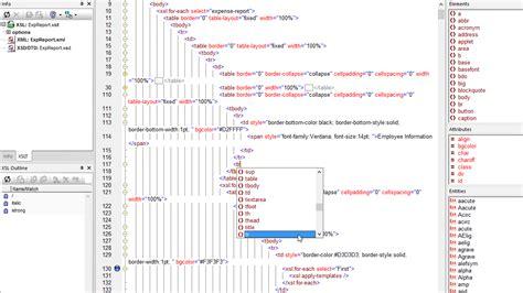xslt tutorial html xml editor xmlspy