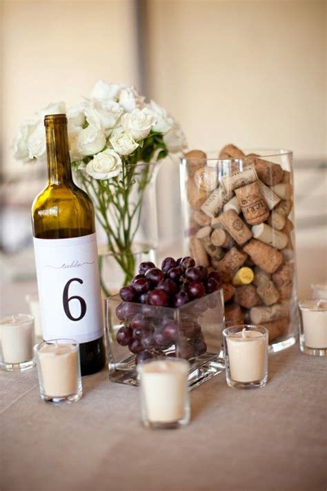 wine centerpieces for weddings wine and cheese wedding inspiration ideas