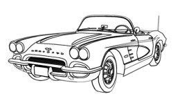 vintage corvette drawing how to draw cars easy corvette digital and cars