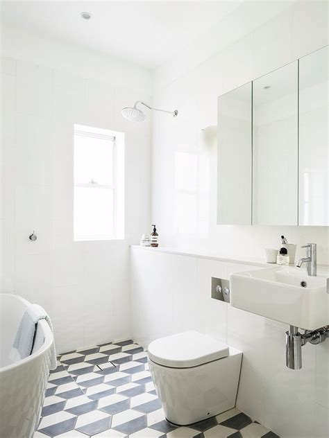 white bathroom 25 creative geometric tile ideas that bring excitement to