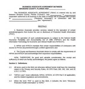 Business Associate Agreement Template 2013 business associate agreement sample associates business