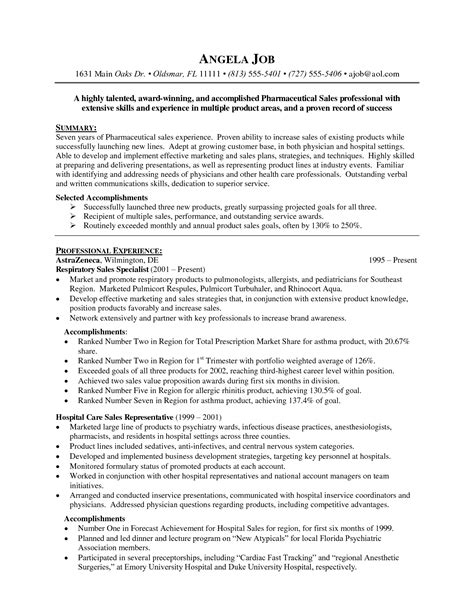 pharmacist resume sles pharmaceutical sales resume exles http www