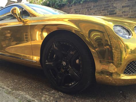 black and gold bentley bentley gt chrome gold wrapping cars