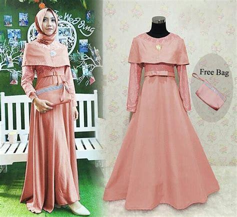 Gamis Pesta Modern Baju Gamis Satin Terbaru Busana Muslim Murah baju gamis pesta brokat terbaru karena salem baju gamis