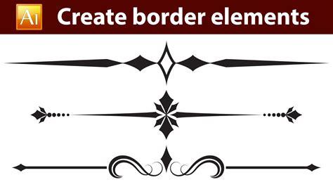 Adobe Illustrator Create Border Pattern | adobe illustrator tutorial how to create calligraphic