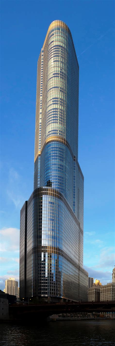 world of architecture tallest towers trump tower chicago 15 tallest building in the world