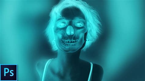 tutorial photoshop x ray create an x ray skull effect photoshop tutorial youtube