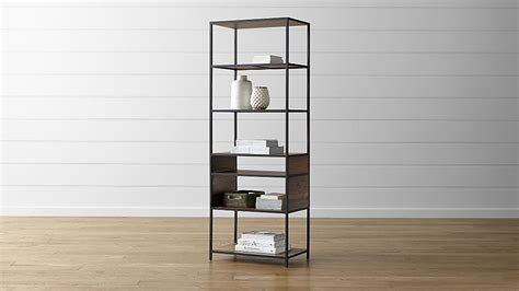 Knox Tall Open Bookcase Crate And Barrel Crate And Barrel Bookshelves