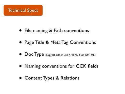 drupal theme naming conventions production process presentation drupalc toronto 2010