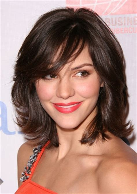 medium length hairstyles for busy mom modern shag with thick bangs layer and shaggy hair cuts