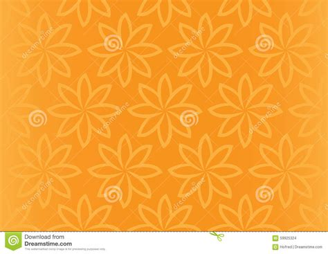 floral pattern repeat vector orange floral repeat pattern seamless vector background