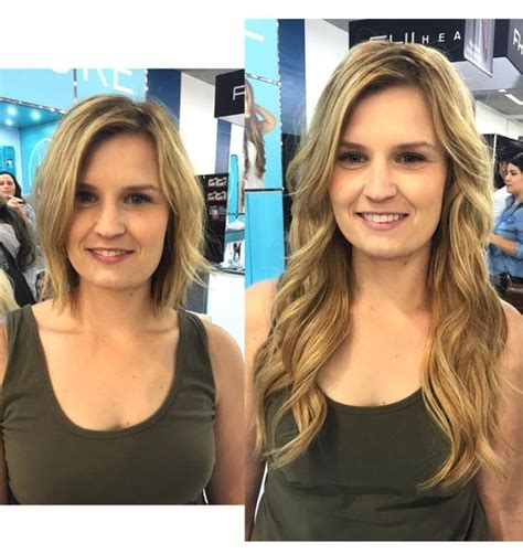 does halo couture work on short hair before and after halocouture before after pinterest hair focus on and your hair
