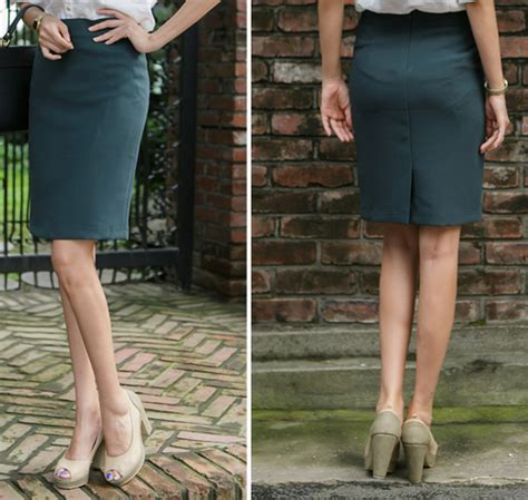Annbaby 8 H Skirt Rok Korea secret2girls roren pencil skirt kstylick korean fashion k pop styles fashion