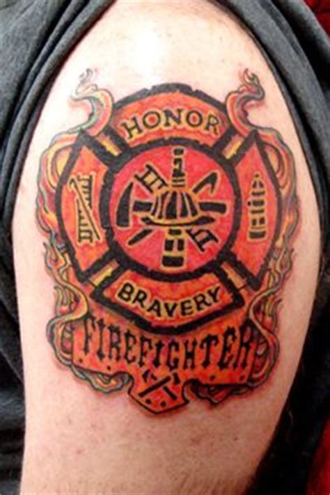 fireman cross tattoo 1000 images about firefighter tattoos on