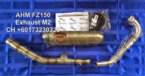 Ahm Exhaust M2 Series ch motorcycle store ahm fz150 exhaust m2