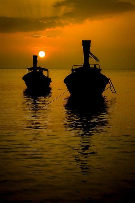 Sunset Orca Pin Warrior Pins - sunset longtail boats thailand railay thailand by