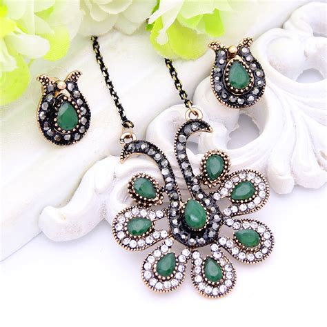 Kalung Korean Vintage Classic Fashion Imitate Gemstone Design Necklace 1 get cheap peacock costume jewelry aliexpress alibaba
