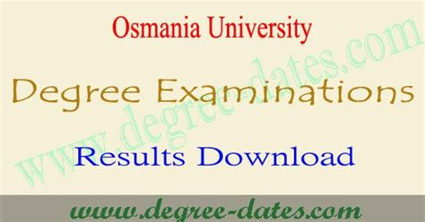 Ou Mba 2nd Sem Tickets 2017 by Ou Degree Supply Results 2018 2019 Osmania Ug 1st 2nd 3rd