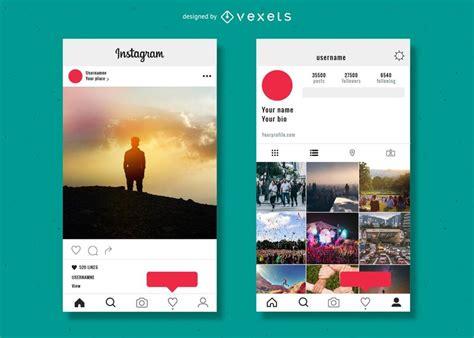 imagenes para perfil instagram plantilla de perfil de instagram descargar vector