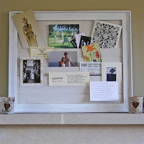 wooden notice board with pockets by the wedding of