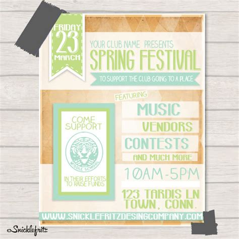 free printable event flyer templates unavailable listing on etsy