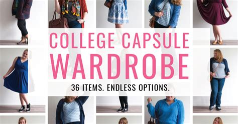 College Wardrobe by College Capsule Wardrobe 36 Items Endless Options Collegecapsulechallenge