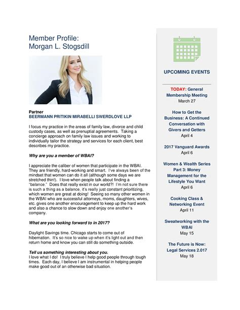Divorce Newsletter Divorce And Family Partner L Stogsdill Appears In Wbai Publication