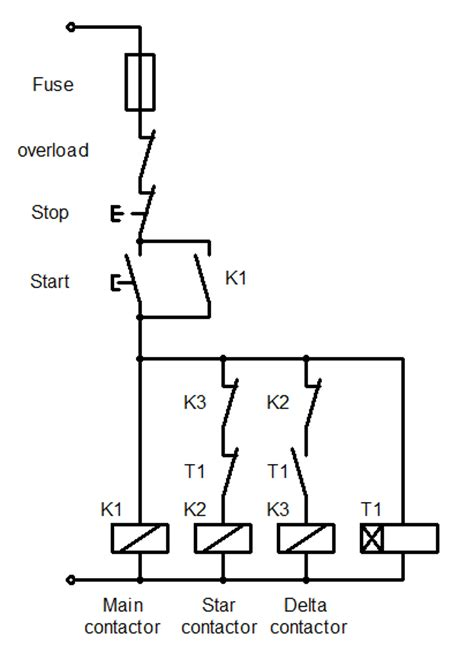 delta starter circuit diagram wiring diagrams