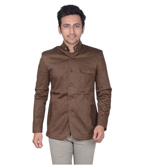 Plain Levin Casual Outer 1 gds brown plain casual blazers buy gds brown plain casual blazers at best prices in
