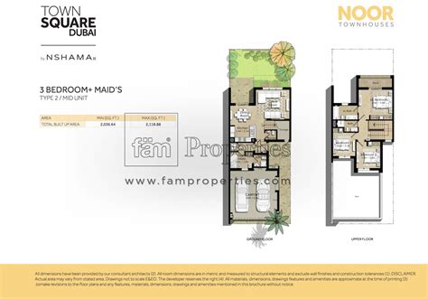 townhouses floor plans floor plans noor townhouses town square by nshama