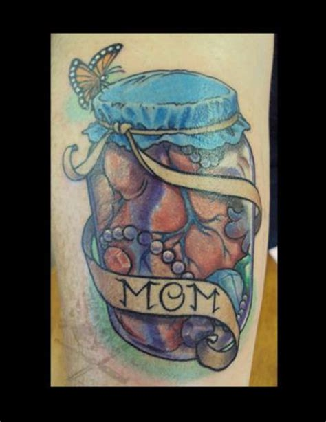 butterfly jar tattoo heart and jewels in jar with butterfly tattoo by