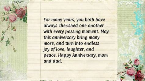 Wedding Anniversary Quotes To Parents From by Parents Anniversary Quotes From Quotesgram