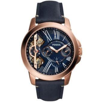 Jam Tangan Pria Leather Swatch swatch jam tangan pria bening biru coklat tua gm415