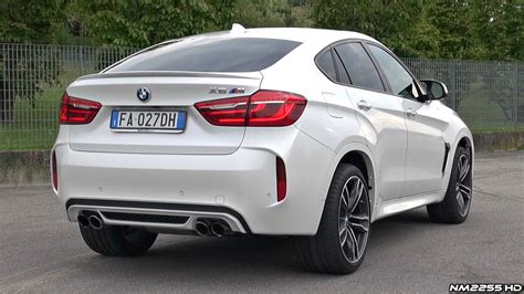x6m bmw 2016 bmw x6m f86 exhaust sound accelerations flybys