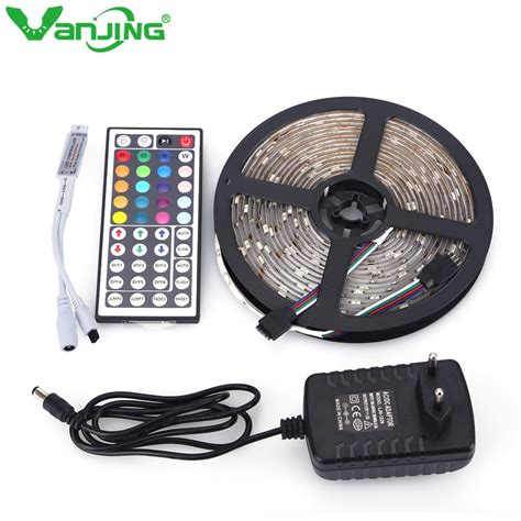 tape lights with remote aliexpress com buy rgb led strip 5050 waterproof 5m