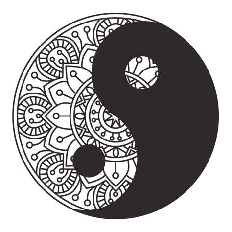 mandala yin yang wandtattoo