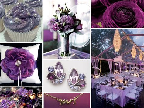 plum and silver wedding