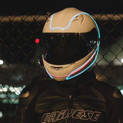 motorcycle helmet light kit proton kit aqua light mode helmets touch of modern
